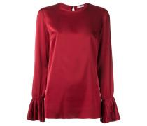 P.A.R.O.S.H. Bluse mit plissierten Bündchen