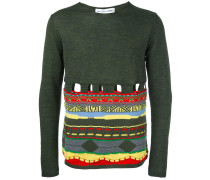 Wollpullover mit Cut-Outs - men - Acryl/Wolle