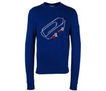 Sweatshirt mit aufgestickter Büroklammer