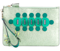 Metallic-Clutch mit Applikationen