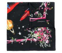Love floral print scarf