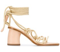 Sandalen mit Seildetails, 80mm