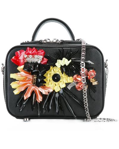 La Perla Damen Schultertasche mit Blumenapplikationen Footaction Online Auslasszwischenraum Standorten nYC80o