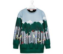 teen long-sleeved printed sweatshirt - kids