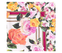 Seidentuch mit floralem Print - women - Seide