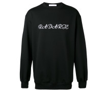 Oversized-Pullover mit Stickerei