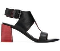 Slingback-Sandalen mit Blockabsatz