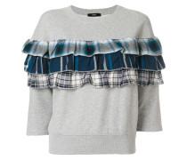 Sweatshirt mit kariertem Rüschendetail