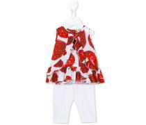 Leggings und Top mit Erdbeer-Print - kids