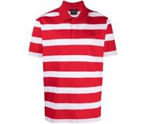 Gestreiftes Poloshirt mit Logo-Patch