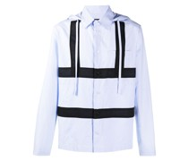 panelled hooded shirt