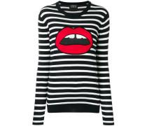 lips striped jumper