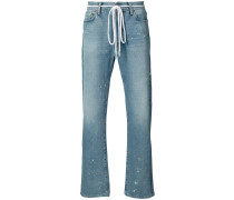 Lockere Jeans mit Distressed-Optik