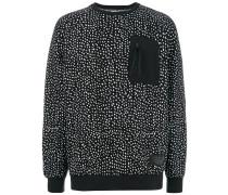 Sweatshirt mit Regentropfen-Print