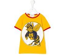 T-Shirt mit Bienen-Print