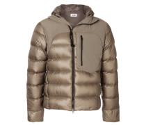 panelled padded jacket