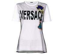 T-Shirt mit floraler Stickerei
