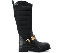 logo buckle boots