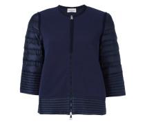 - padded sleeve zip cardigan - women - Polyamid