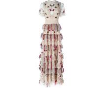 Kleid mit Perlen-Feder-Verzierungen - women