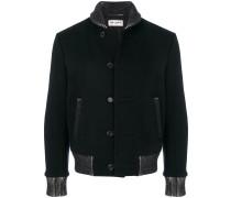 contrast trim varsity jacket