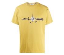 T-Shirt mit Kompass-Print