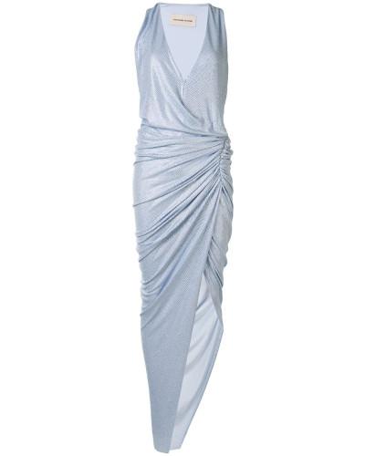 Asymmetrisches Kleid mit Raffung