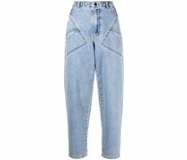 Hoch sitzende Tapered-Jeans