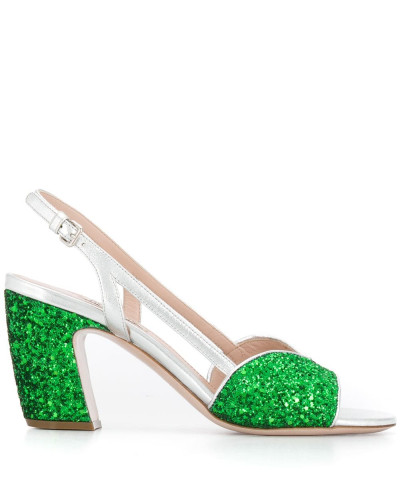sandals with glitter details