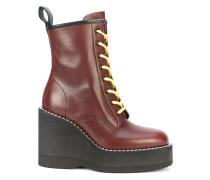 chunky wedge heeled boots