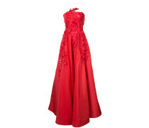 appliqué detail gown
