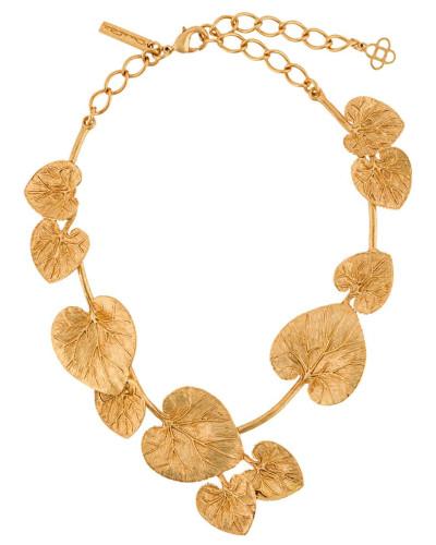 Halskette mit Eukalyptus-Detail