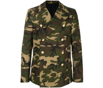 camouflage double-breasted coat