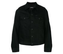 textured denim jacket