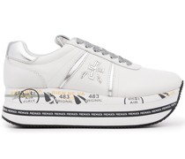 Plateau-Sneakers mit Schnürung