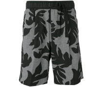 Shorts mit Blattmuster - men - Baumwolle - L