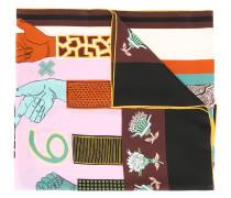 Garavani counting print scarf