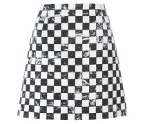 Minirock mit Schachbrettmuster