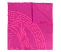 embroidered Medusa logo shawl