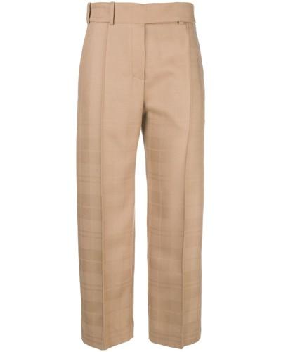Cropped-Hose mit Bügelfalten
