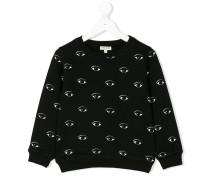 Sweatshirt mit Augen-Print