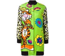 floral tiger print bomber jacket