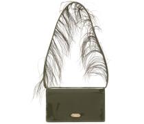 feather handle shoulder bag