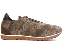 panelled camouflage sneakers