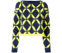 geometric-knit jumper