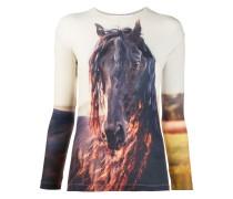 Langarmshirt mit Pferde-Print
