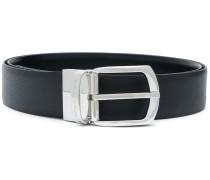 engraved logo buckle belt