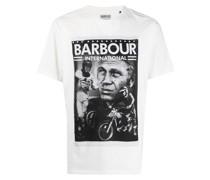 T-Shirt mit Porträt-Print