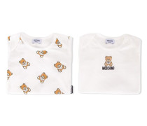 Strampelanzug-Set mit Teddybären-Print