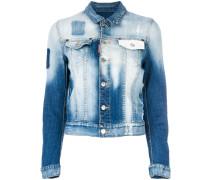Jeansjacke mit Bleach-Effekt